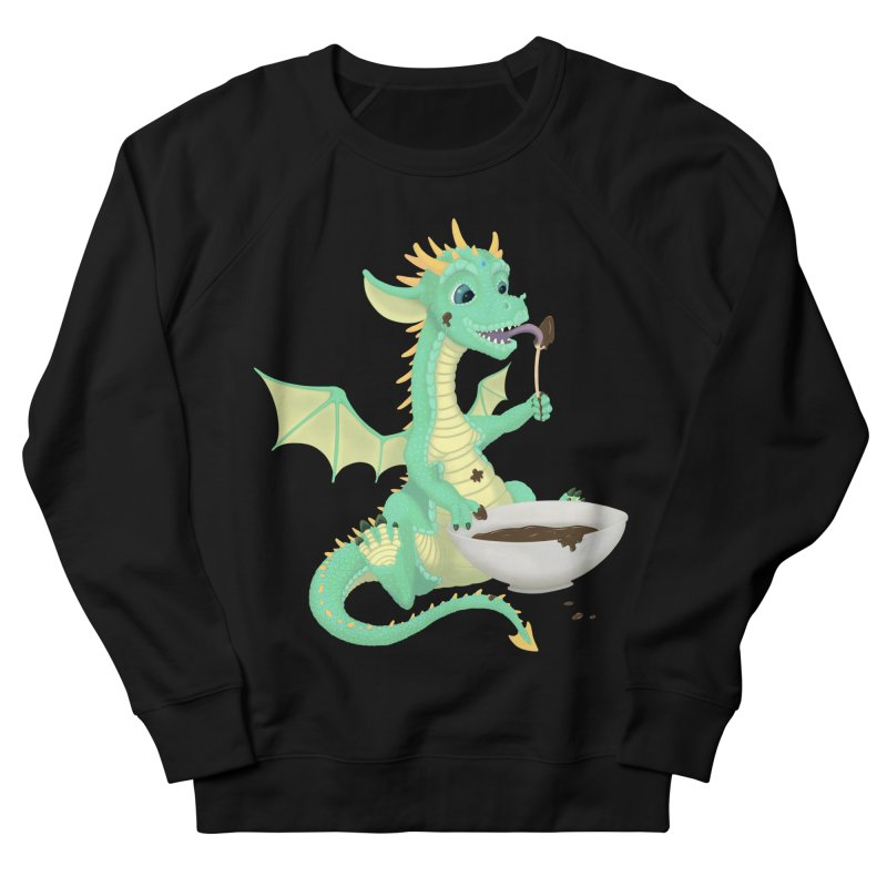 Helper Dragon Men's French Terry Sweatshirt by Creaturista's Fine Goods