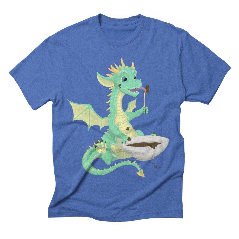 Helper Dragon Men's Triblend T-Shirt by Creaturista's Fine Goods