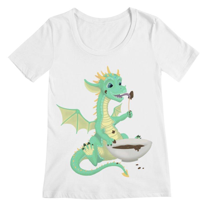 Helper Dragon Women's Regular Scoop Neck by Creaturista's Fine Goods