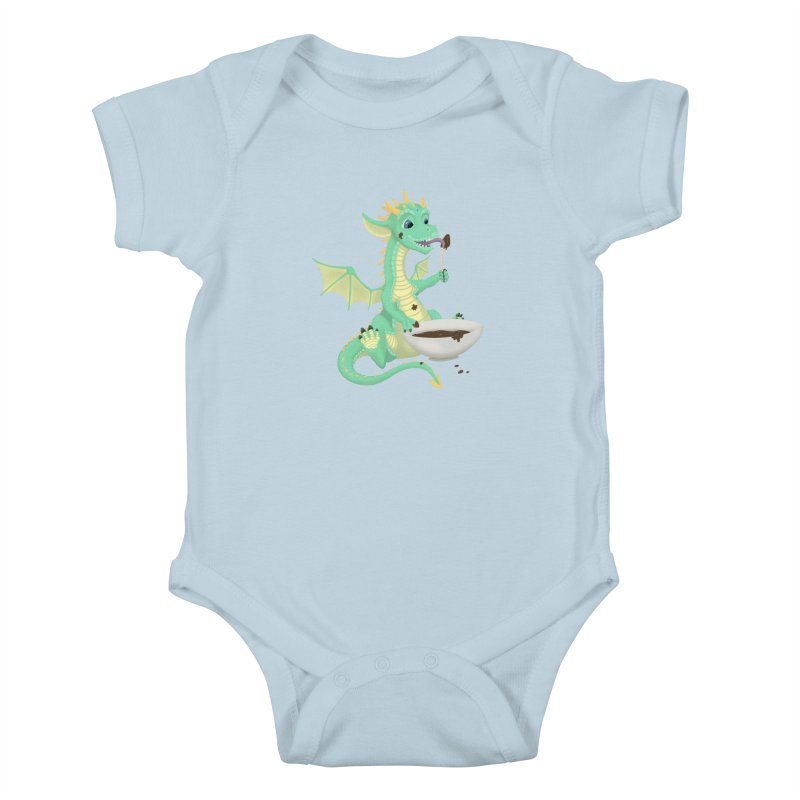 Helper Dragon Kids Baby Bodysuit by Creaturista's Fine Goods