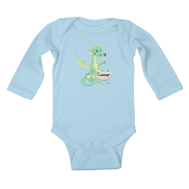Helper Dragon Kids Baby Longsleeve Bodysuit by Creaturista's Fine Goods