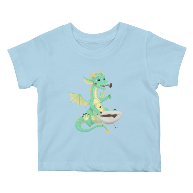 Helper Dragon Kids Baby T-Shirt by Creaturista's Fine Goods