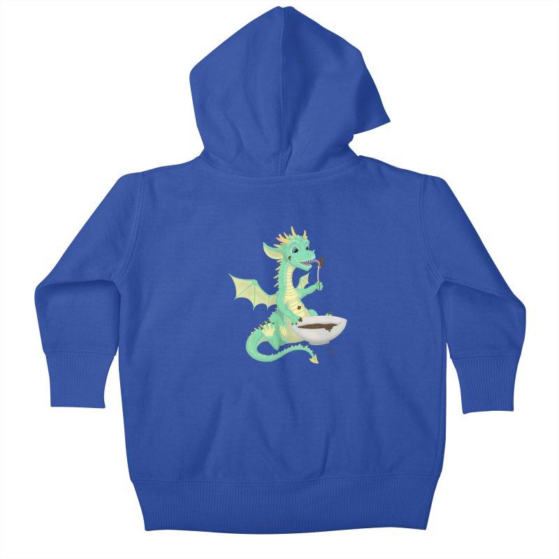 Helper Dragon Kids Baby Zip-Up Hoody by Creaturista's Fine Goods