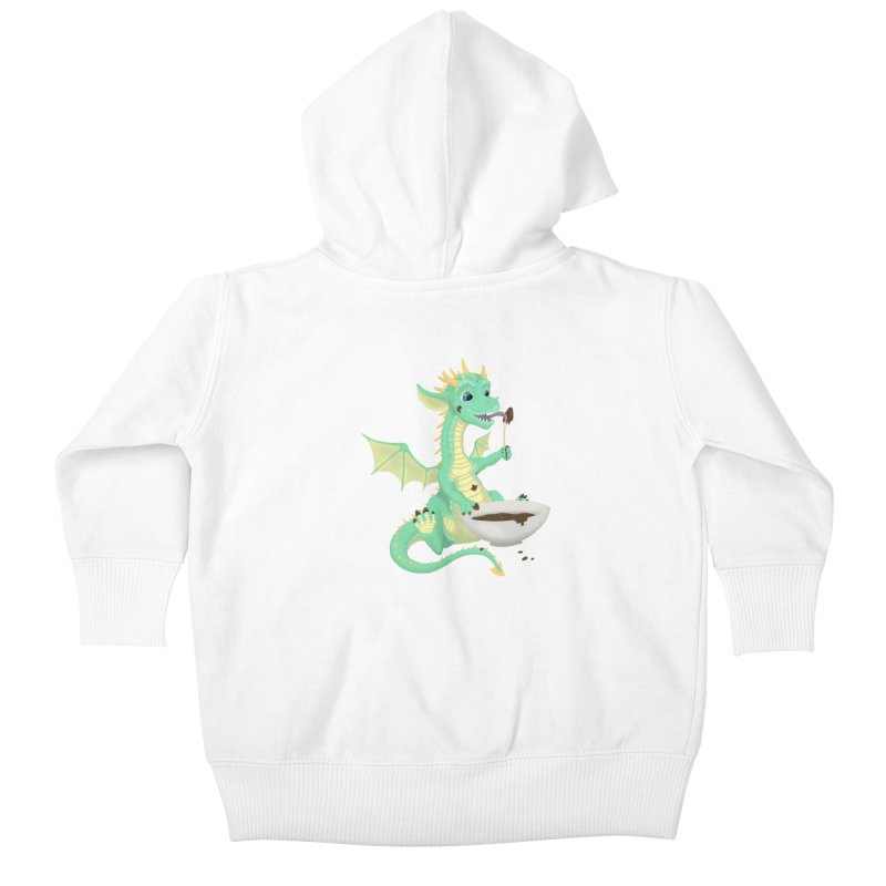 Helper Dragon Kids Baby Zip-Up Hoody by Creaturista's Fine Goods