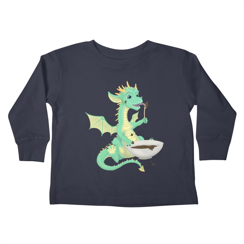 Helper Dragon Kids Toddler Longsleeve T-Shirt by Creaturista's Fine Goods