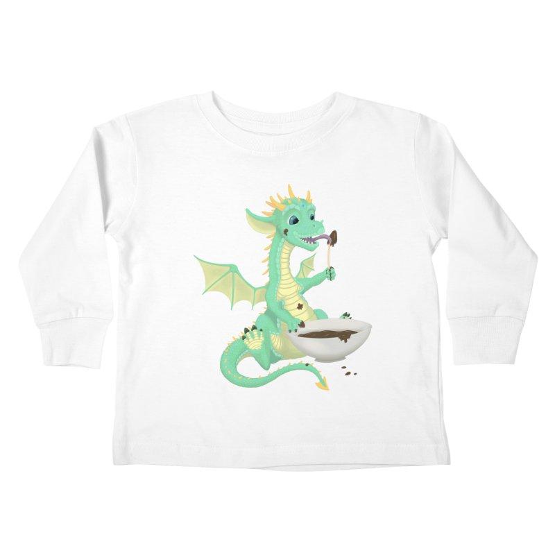Helper Dragon Kids Toddler Longsleeve T-Shirt by Creaturista's Fine Goods