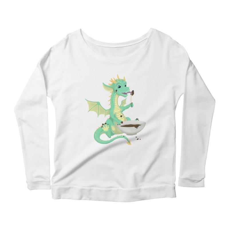 Helper Dragon Women's Scoop Neck Longsleeve T-Shirt by Creaturista's Fine Goods