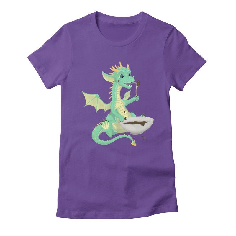 Helper Dragon Women's Fitted T-Shirt by Creaturista's Fine Goods