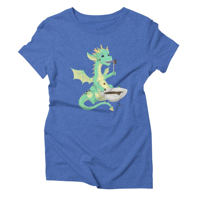 Helper Dragon Women's Triblend T-Shirt by Creaturista's Fine Goods