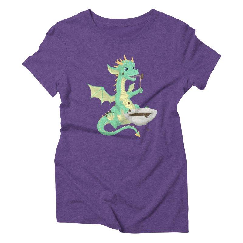 Helper Dragon Women's Triblend T-Shirt by Creaturista's Fine Goods