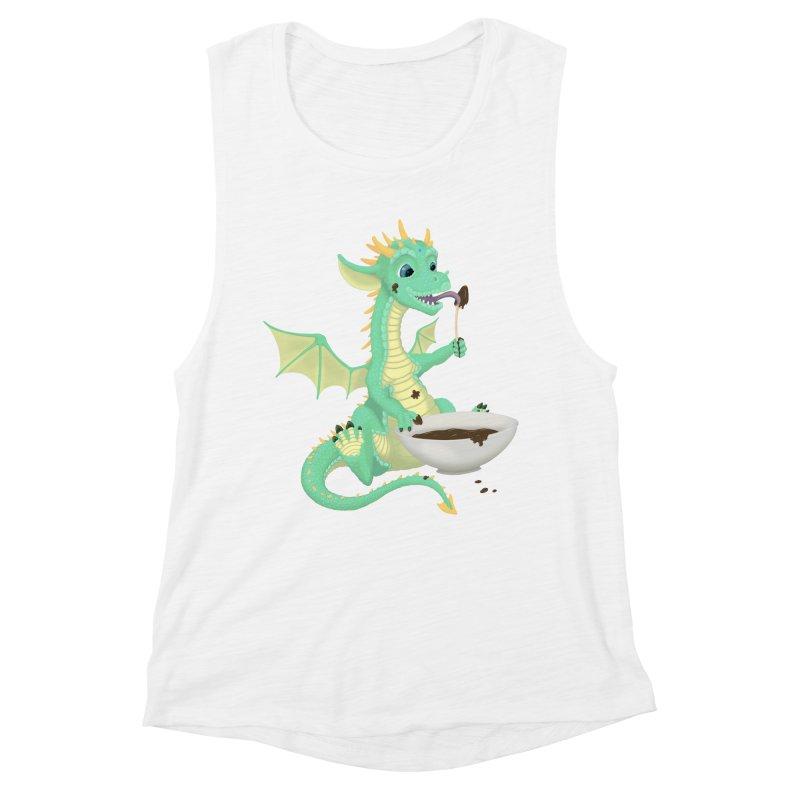 Helper Dragon Women's Muscle Tank by Creaturista's Fine Goods
