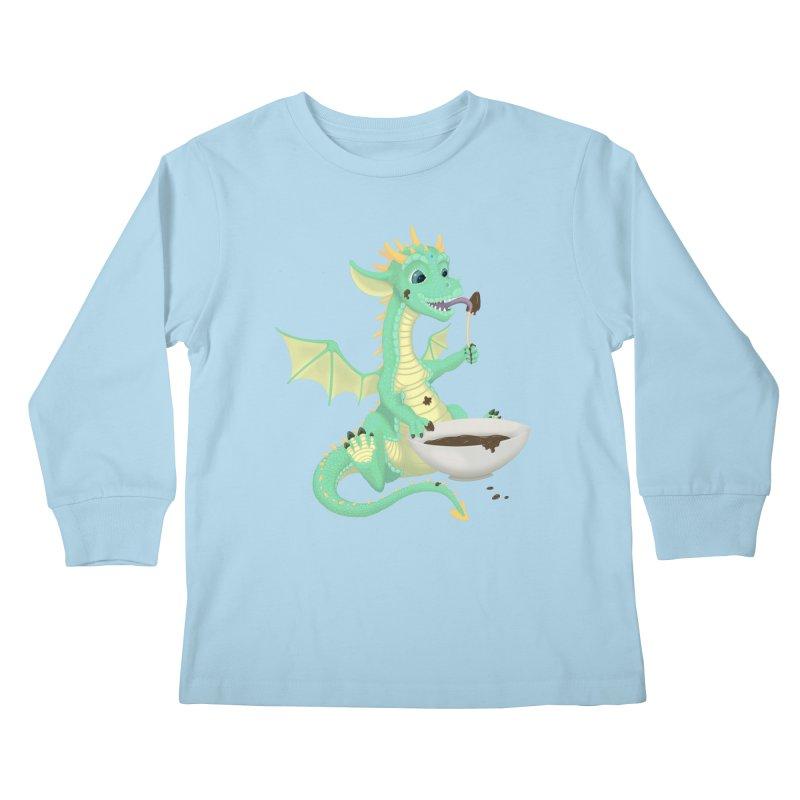 Helper Dragon Kids Longsleeve T-Shirt by Creaturista's Fine Goods