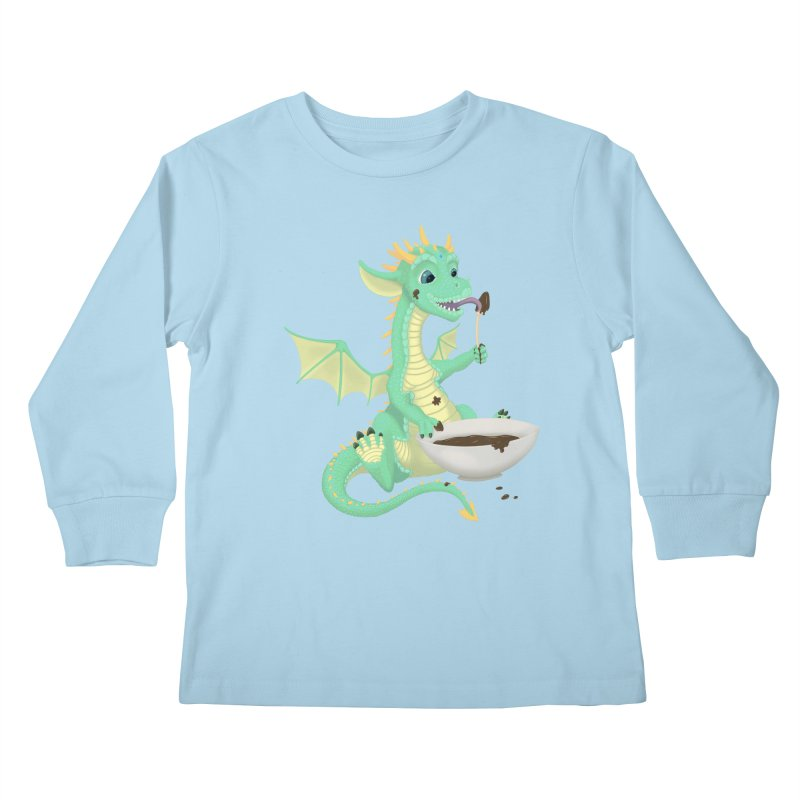 Helper Dragon Kids Longsleeve T-Shirt by Creaturista's Fine Goods