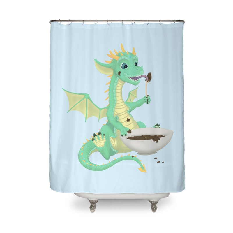 Helper Dragon Home Shower Curtain by Creaturista's Fine Goods