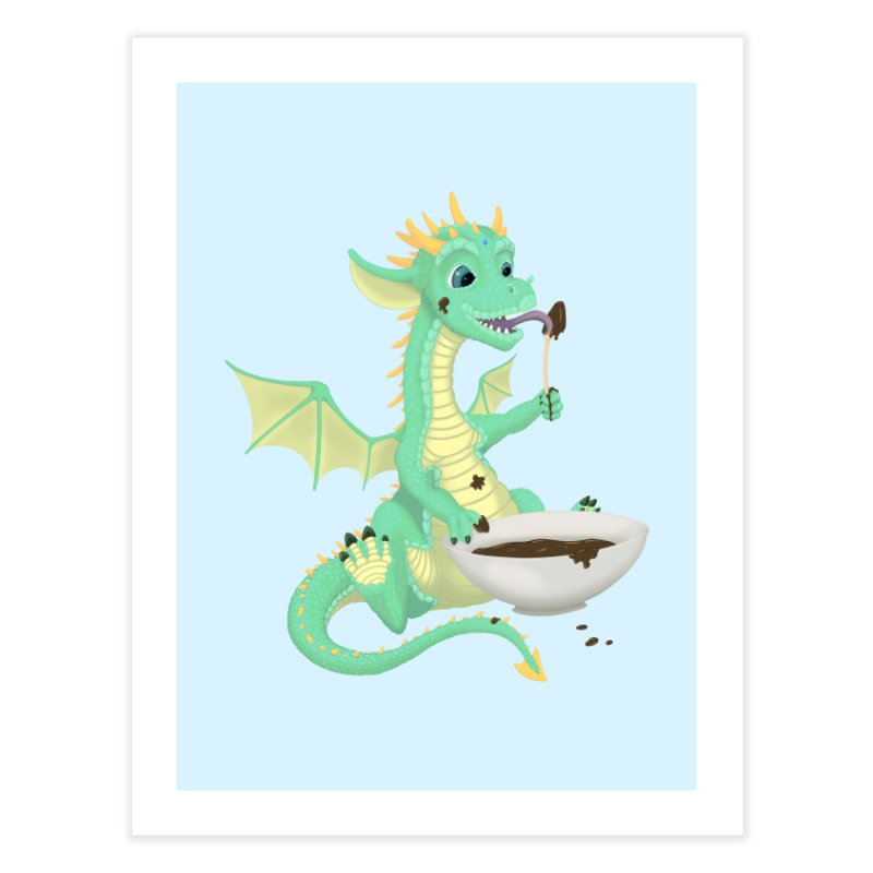 Helper Dragon Home Fine Art Print by Creaturista's Fine Goods