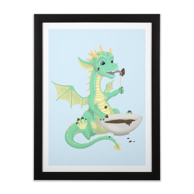 Helper Dragon Home Framed Fine Art Print by Creaturista's Fine Goods