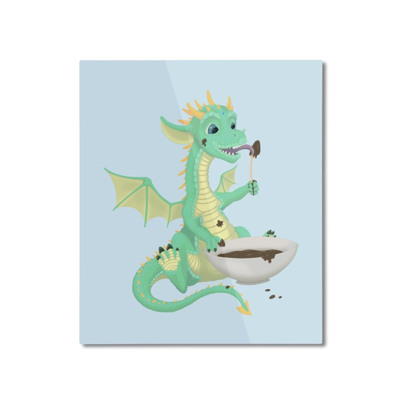 Helper Dragon Home Mounted Aluminum Print by Creaturista's Fine Goods