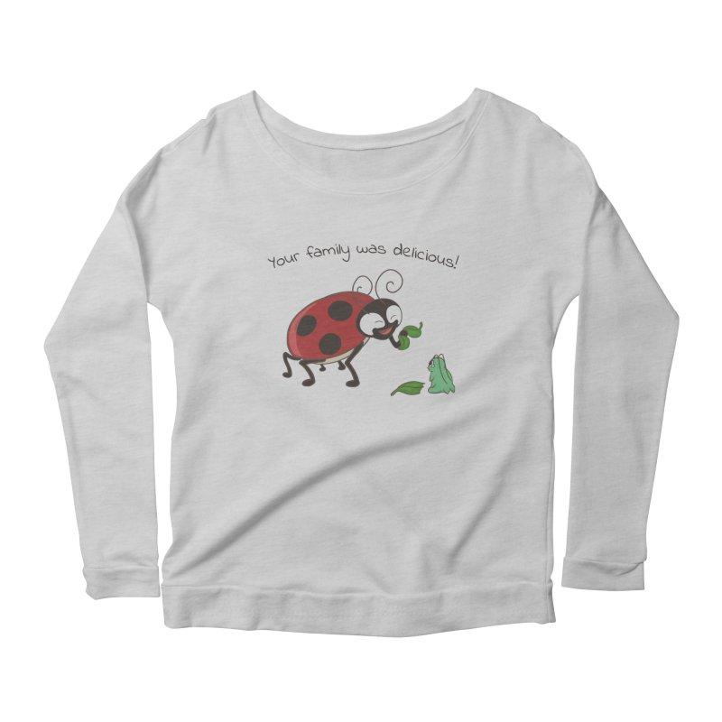 Adorable Monster Women's Scoop Neck Longsleeve T-Shirt by Creaturista's Fine Goods