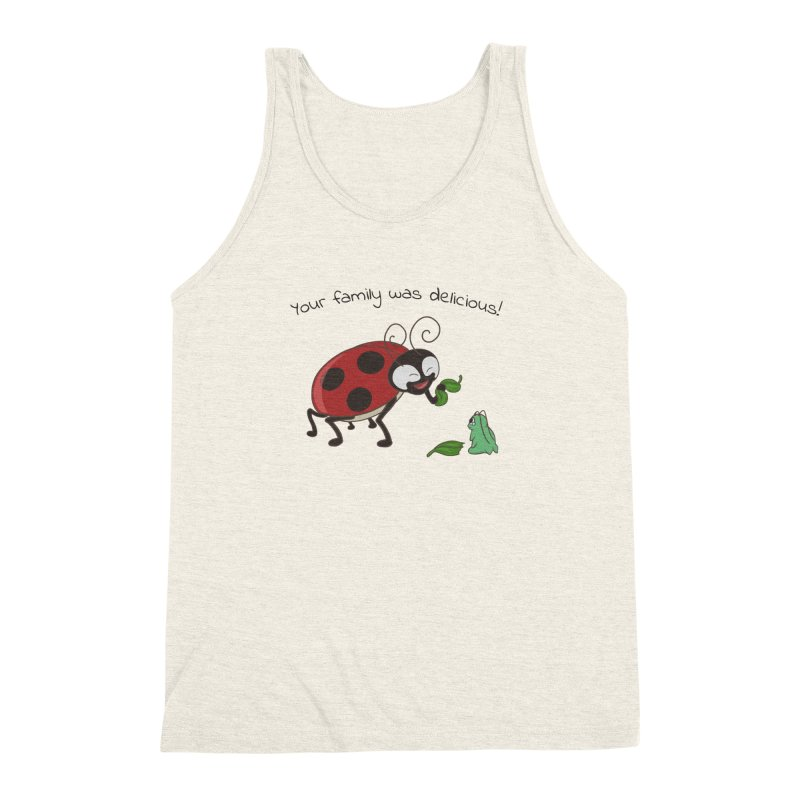 Adorable Monster Men's Triblend Tank by Creaturista's Fine Goods