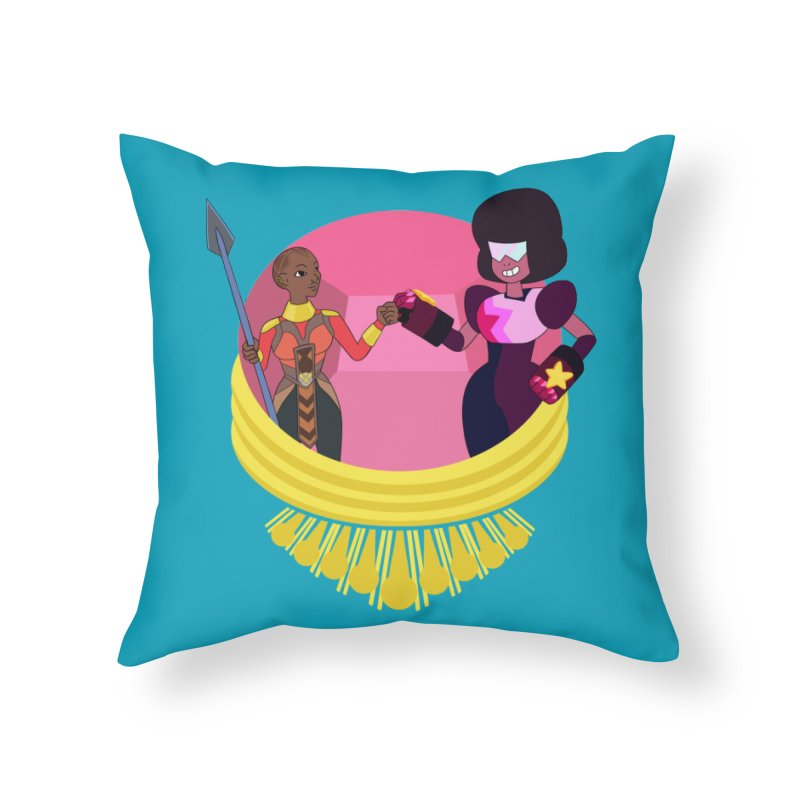 Respect Home Throw Pillow by Creaturista's Fine Goods