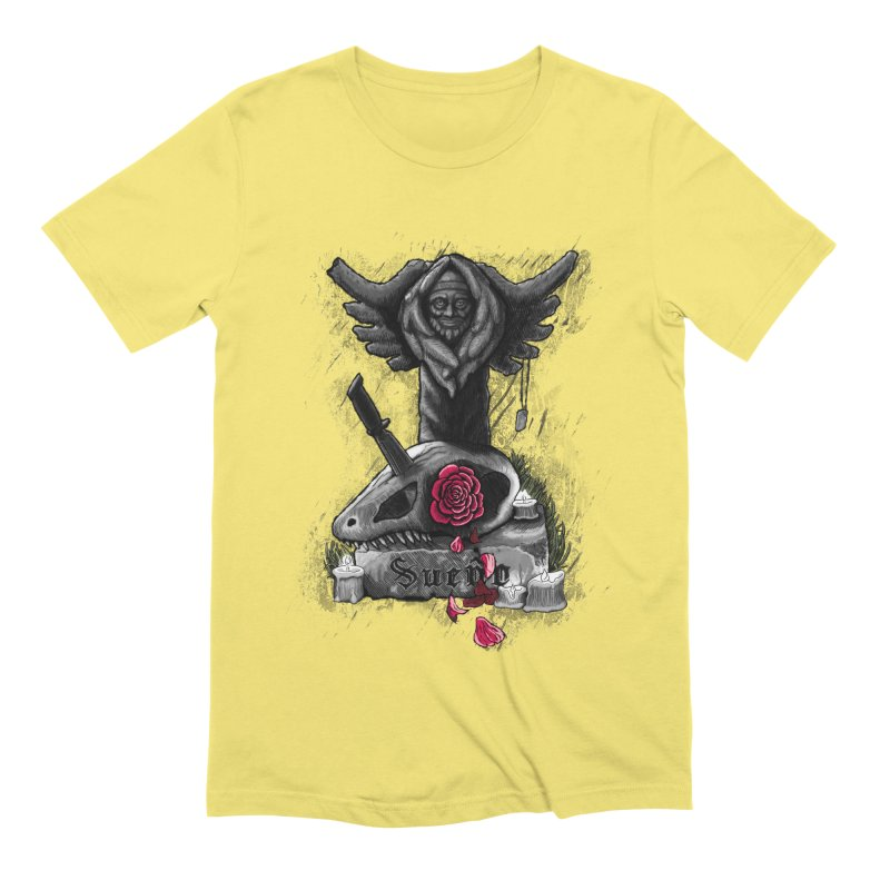 Raptor Skull Men's Extra Soft T-Shirt by Creaturista's Fine Goods