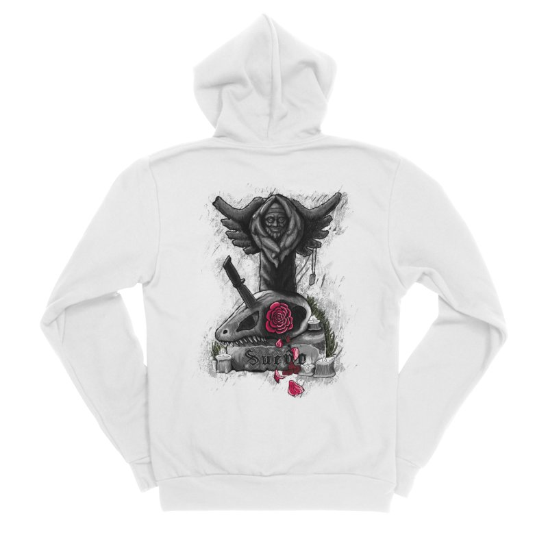 Raptor Skull Women's Sponge Fleece Zip-Up Hoody by Creaturista's Fine Goods