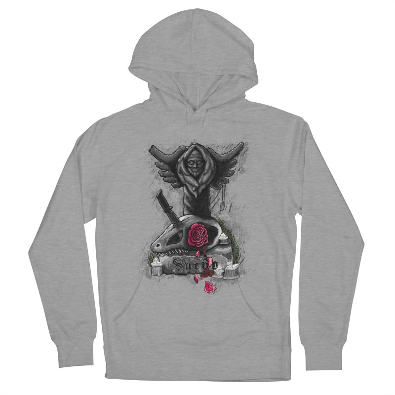 Raptor Skull Men's French Terry Pullover Hoody by Creaturista's Fine Goods