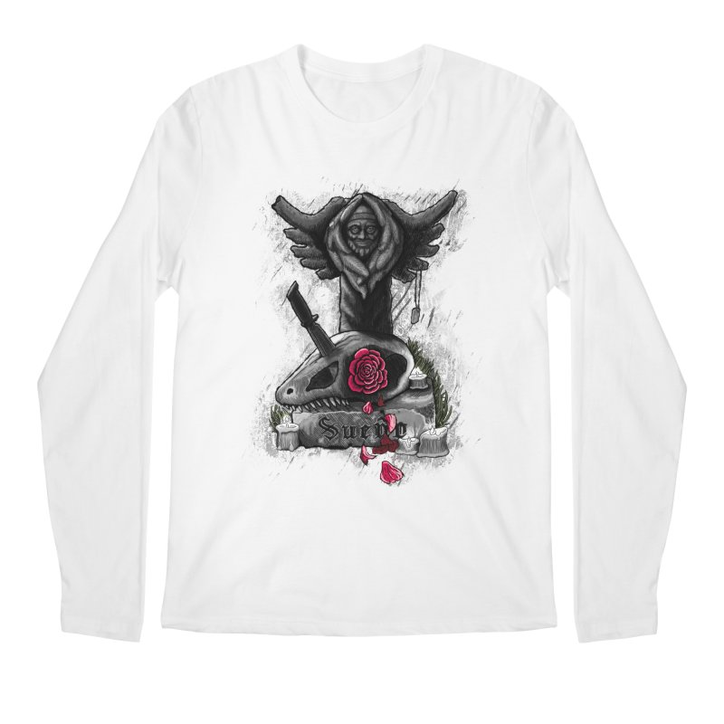 Raptor Skull Men's Longsleeve T-Shirt by Creaturista's Fine Goods
