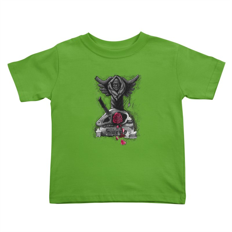 Raptor Skull Kids Toddler T-Shirt by Creaturista's Fine Goods