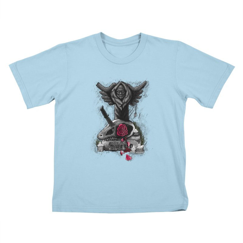 Raptor Skull Kids T-Shirt by Creaturista's Fine Goods