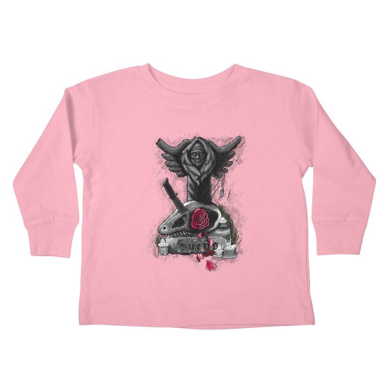 Raptor Skull Kids Toddler Longsleeve T-Shirt by Creaturista's Fine Goods