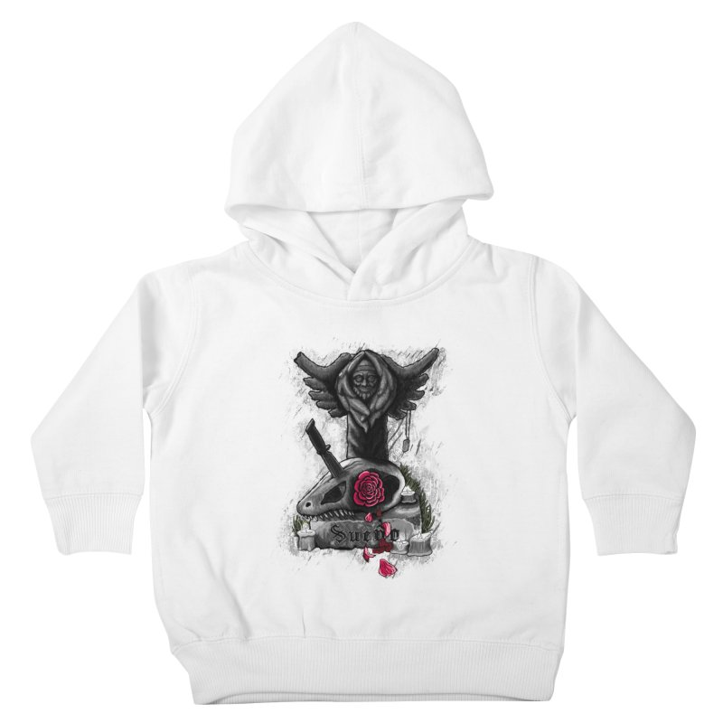 Raptor Skull Kids Toddler Pullover Hoody by Creaturista's Fine Goods