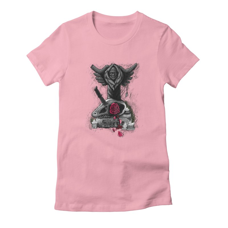 Raptor Skull Women's Fitted T-Shirt by Creaturista's Fine Goods