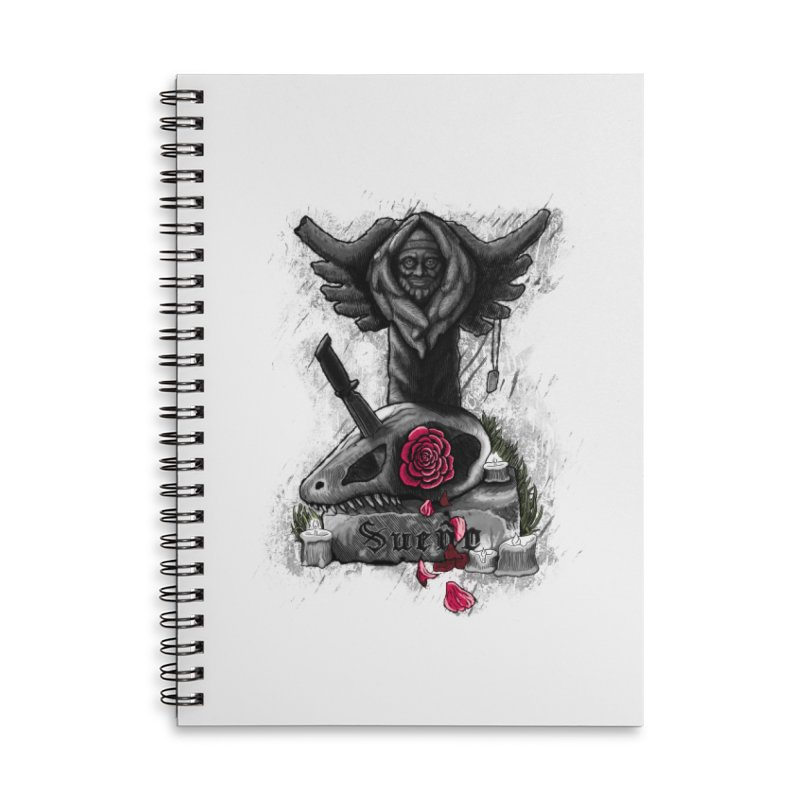 Raptor Skull Accessories Lined Spiral Notebook by Creaturista's Fine Goods