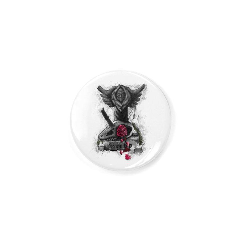 Raptor Skull Accessories Button by Creaturista's Fine Goods