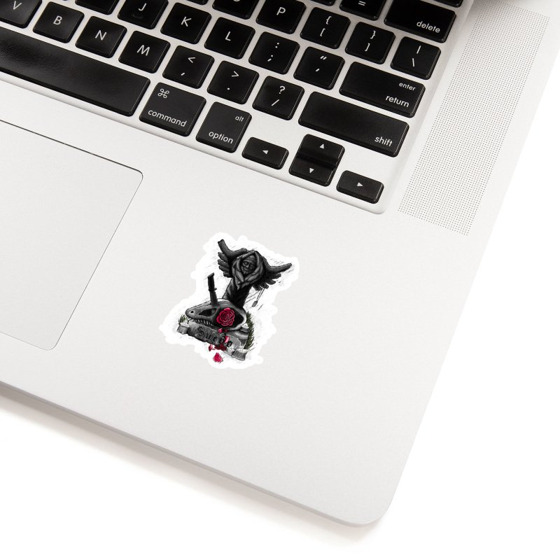 Raptor Skull Accessories Sticker by Creaturista's Fine Goods