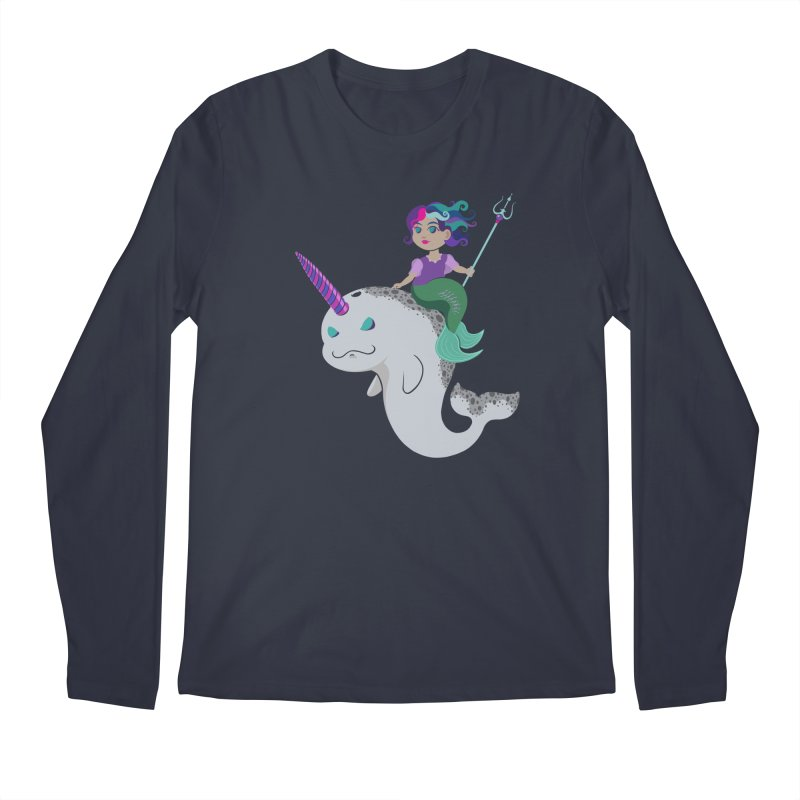 Once Upon a Wave Men's Regular Longsleeve T-Shirt by Creaturista's Fine Goods