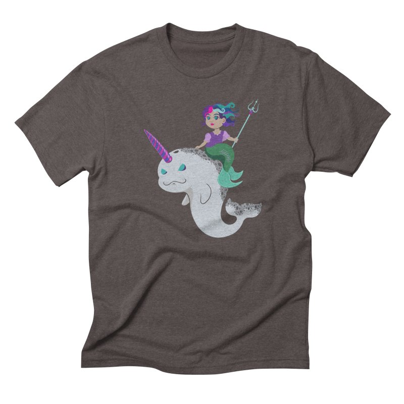 Once Upon a Wave Men's Triblend T-Shirt by Creaturista's Fine Goods