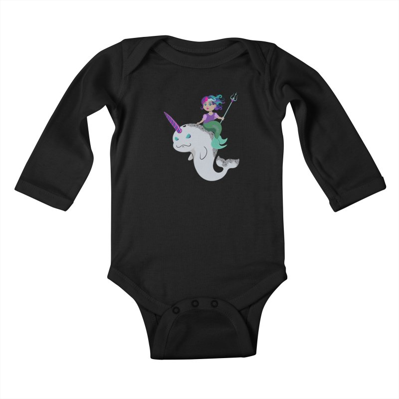 Once Upon a Wave Kids Baby Longsleeve Bodysuit by Creaturista's Fine Goods