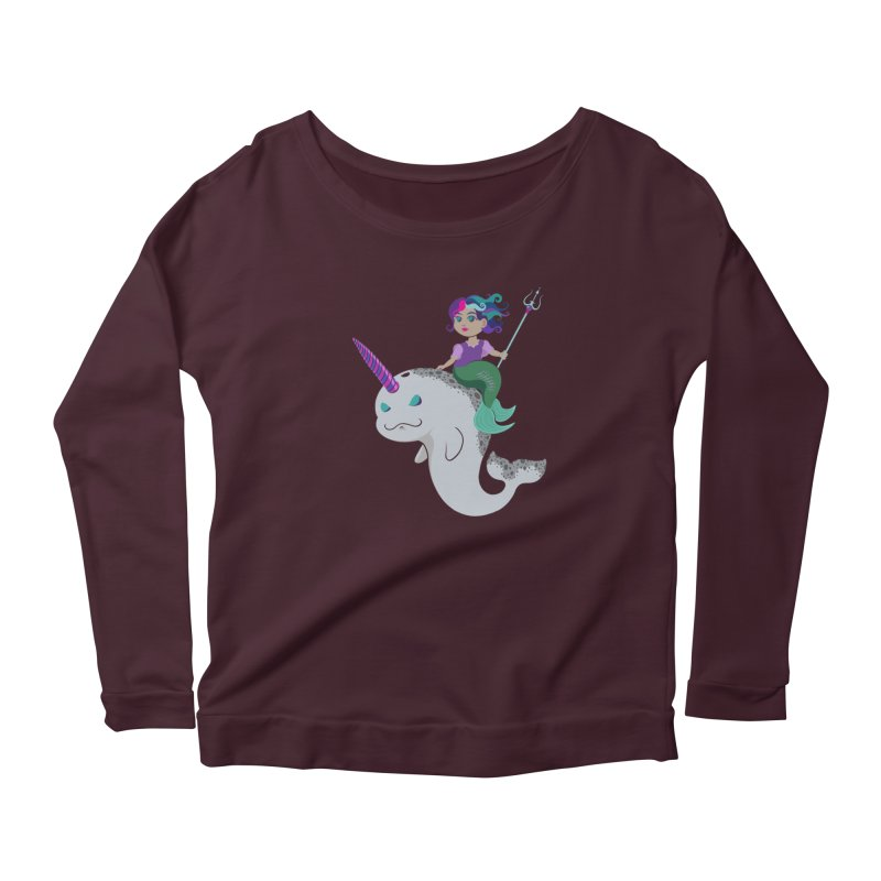 Once Upon a Wave Women's Scoop Neck Longsleeve T-Shirt by Creaturista's Fine Goods