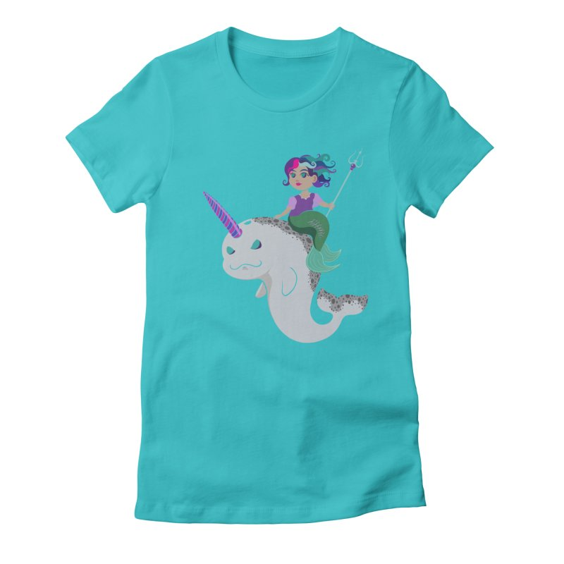 Once Upon a Wave Women's Fitted T-Shirt by Creaturista's Fine Goods