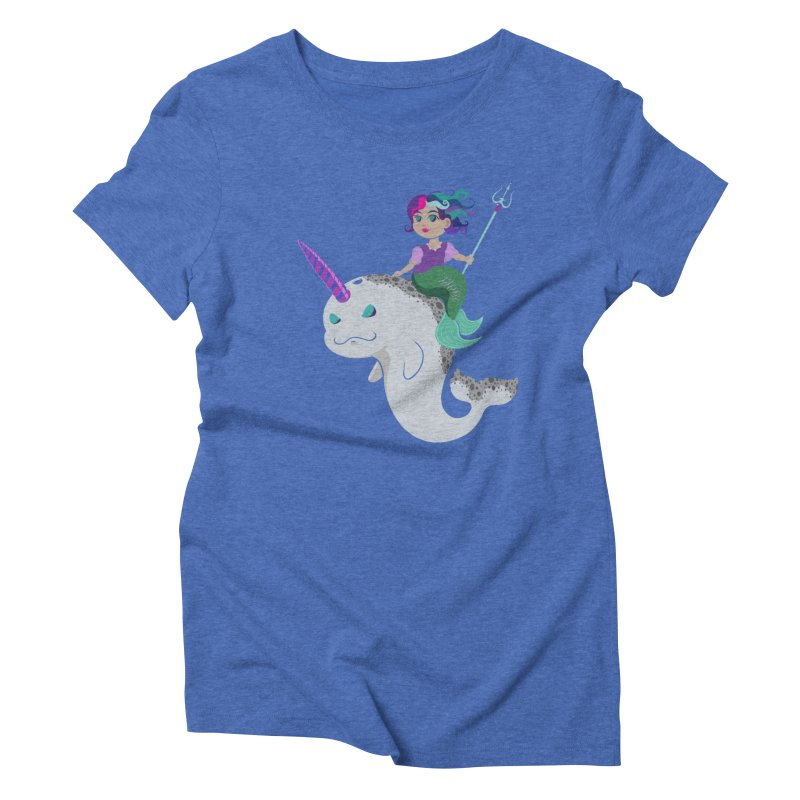 Once Upon a Wave Women's Triblend T-Shirt by Creaturista's Fine Goods