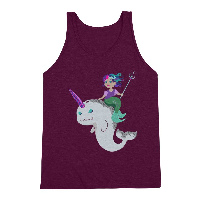 Once Upon a Wave Men's Triblend Tank by Creaturista's Fine Goods