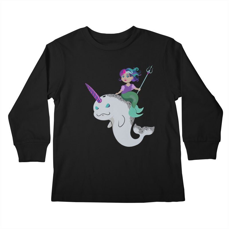 Once Upon a Wave Kids Longsleeve T-Shirt by Creaturista's Fine Goods