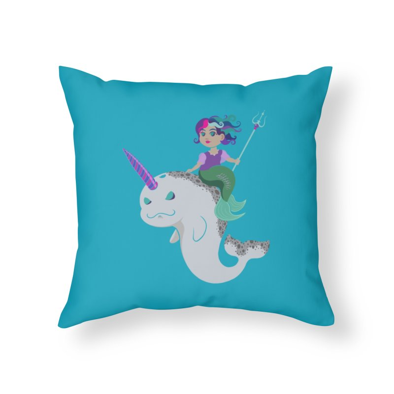 Once Upon a Wave Home Throw Pillow by Creaturista's Fine Goods