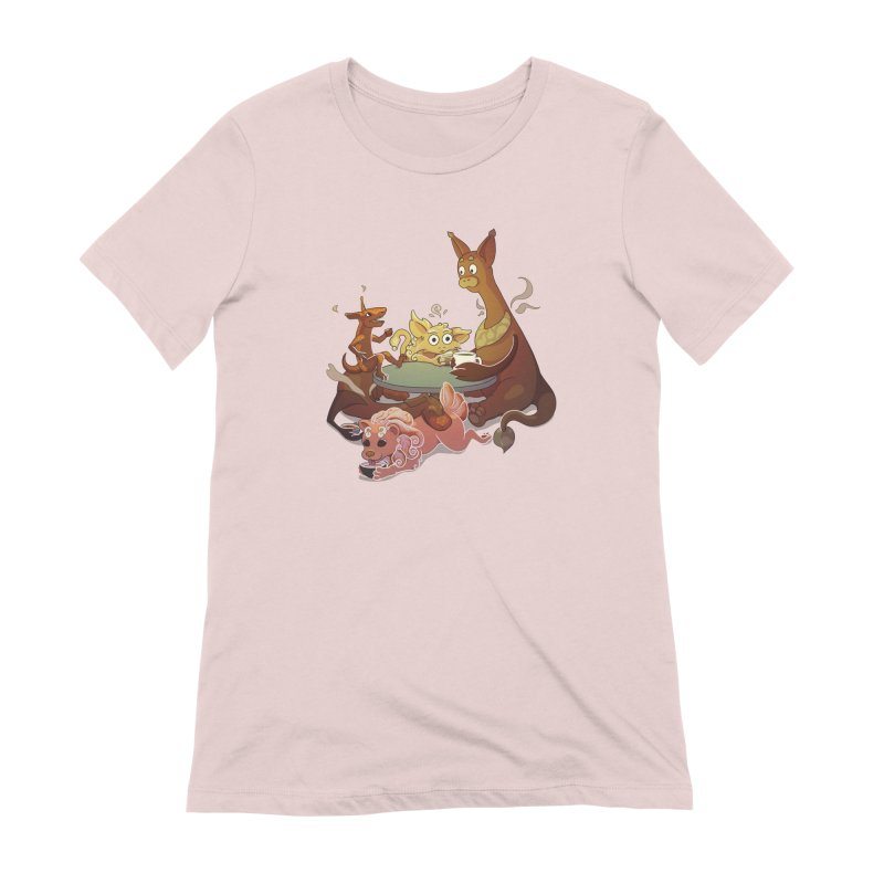 Coffee Party Women's Extra Soft T-Shirt by Creaturista's Fine Goods