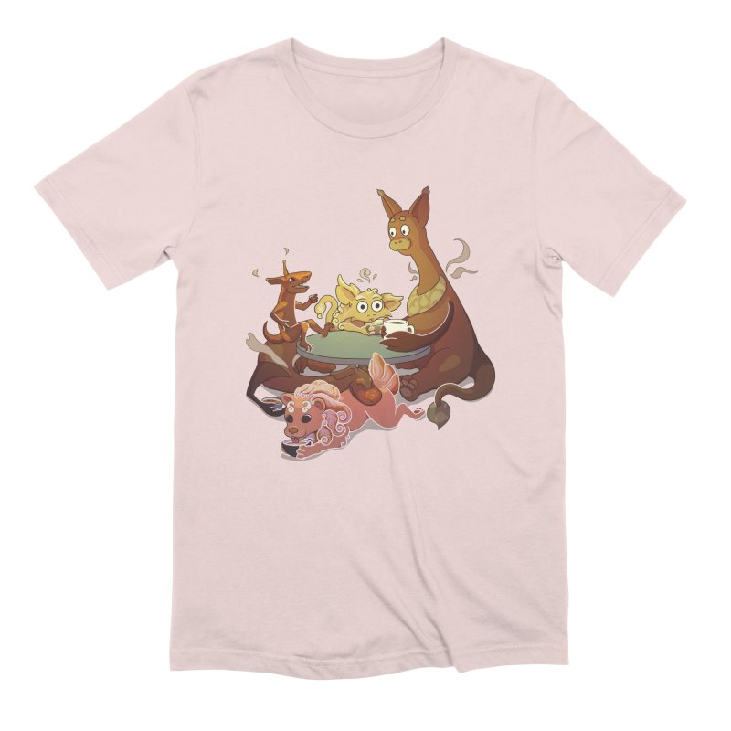 Coffee Party Men's Extra Soft T-Shirt by Creaturista's Fine Goods