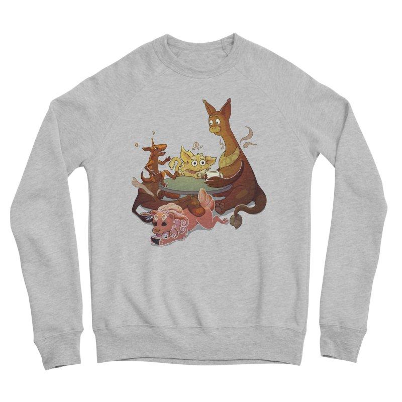 Coffee Party Men's Sponge Fleece Sweatshirt by Creaturista's Fine Goods