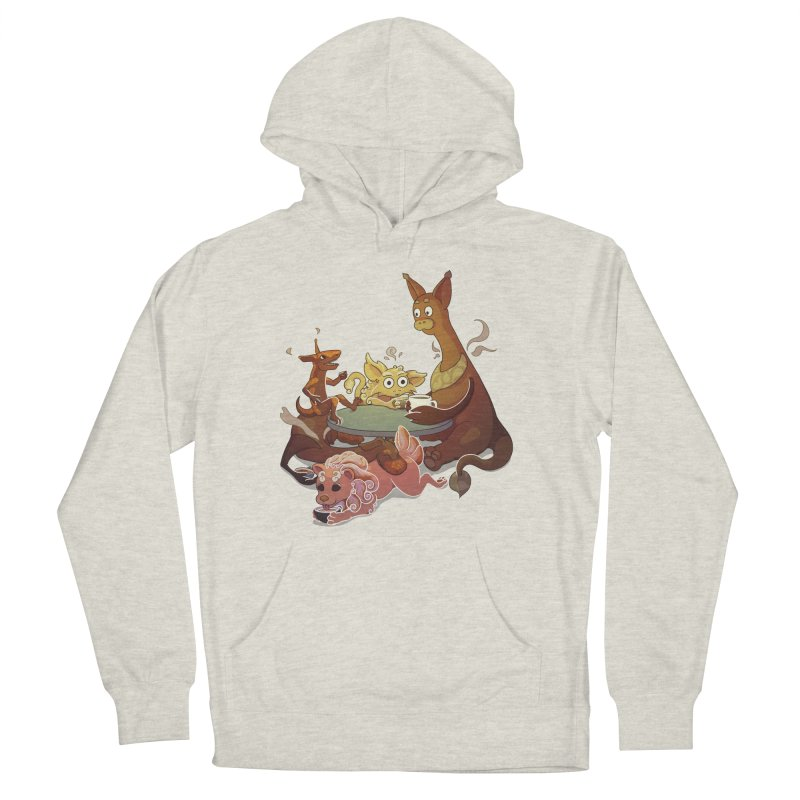Coffee Party Men's French Terry Pullover Hoody by Creaturista's Fine Goods