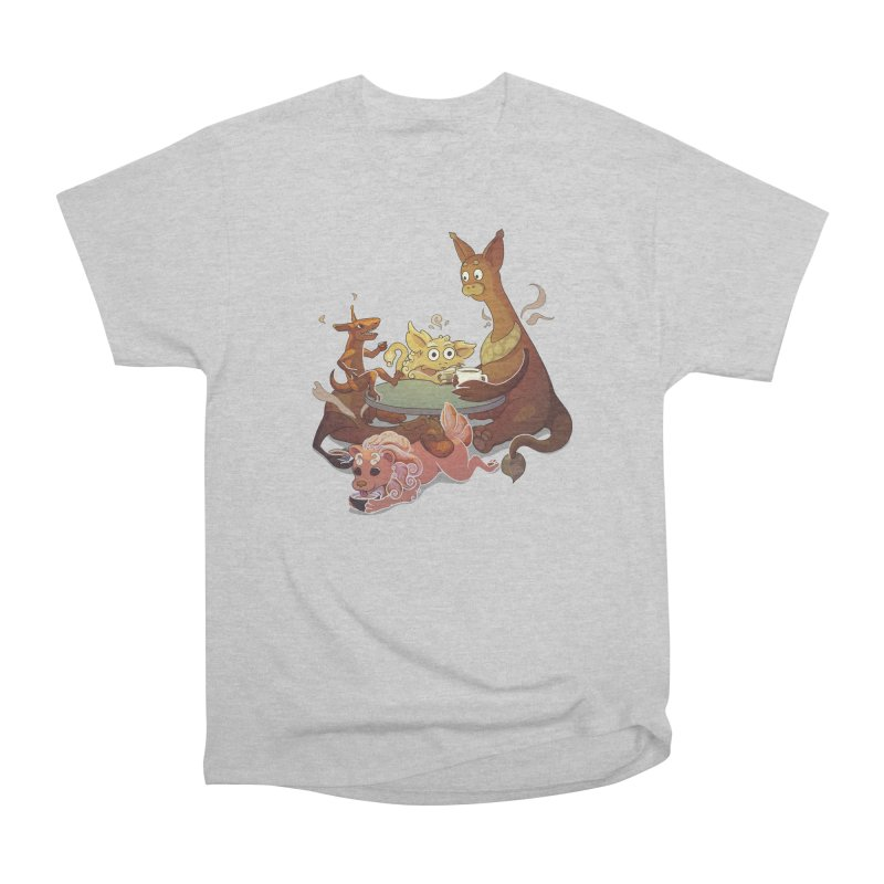 Coffee Party Men's Heavyweight T-Shirt by Creaturista's Fine Goods